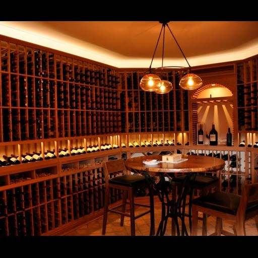 Custom Heart Redwood Wine Cellar – 2500 bottle capacity – Watermill, NY