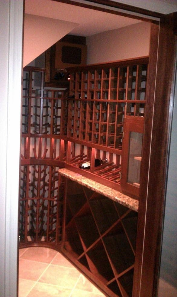 Small Custom Wine Cellar With Humidor In Baltimore