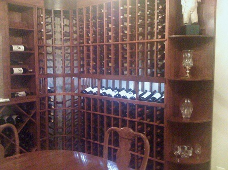 Residential Wine Cellar Pennsylvania Highlighted Display
