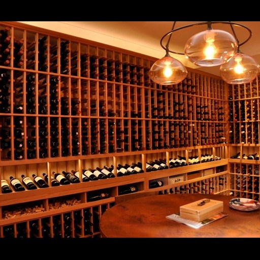 Residential Custom Wine Cellar – Display Row – Watermill New York
