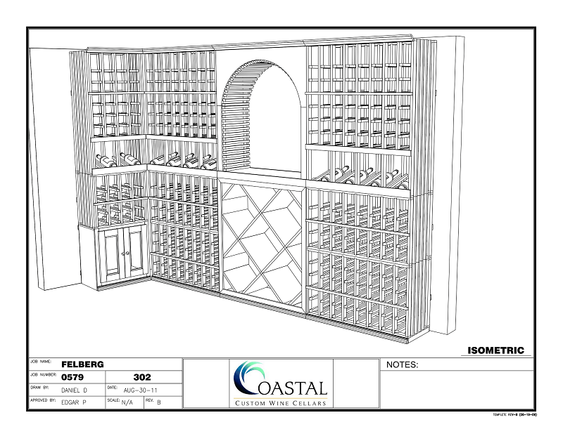 Take advantage of our FREE 3D Custom Wine Cellar Builder Design Service today!