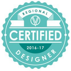 2017 Certified Regional Designer Badge awarded to Coastal Custom Wine Cellars by Vintage View