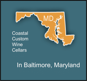 Coastal Custom Wine Cellars Builder of Wine Rooms in Baltimore, Maryland