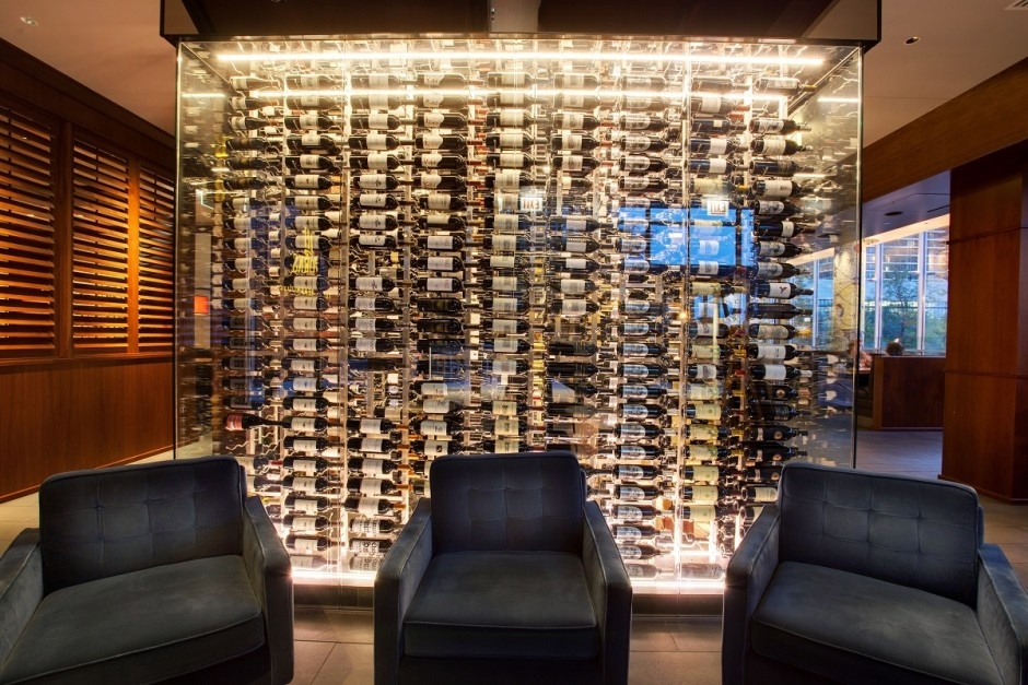Commercial Wine Cellar Designs Using VintageView Metal Wine Racks