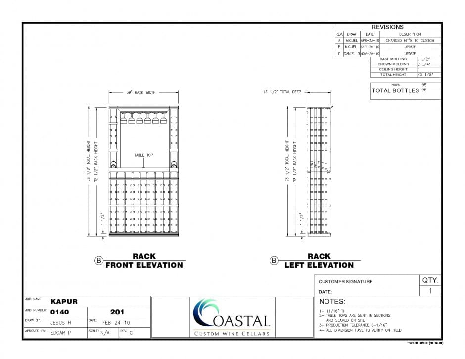 Custom Wine Cellar KAPUR PDF Front_Left Elevation