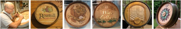 Wine Barrel Carvings - Check out these accessories for home & commercial wine displays