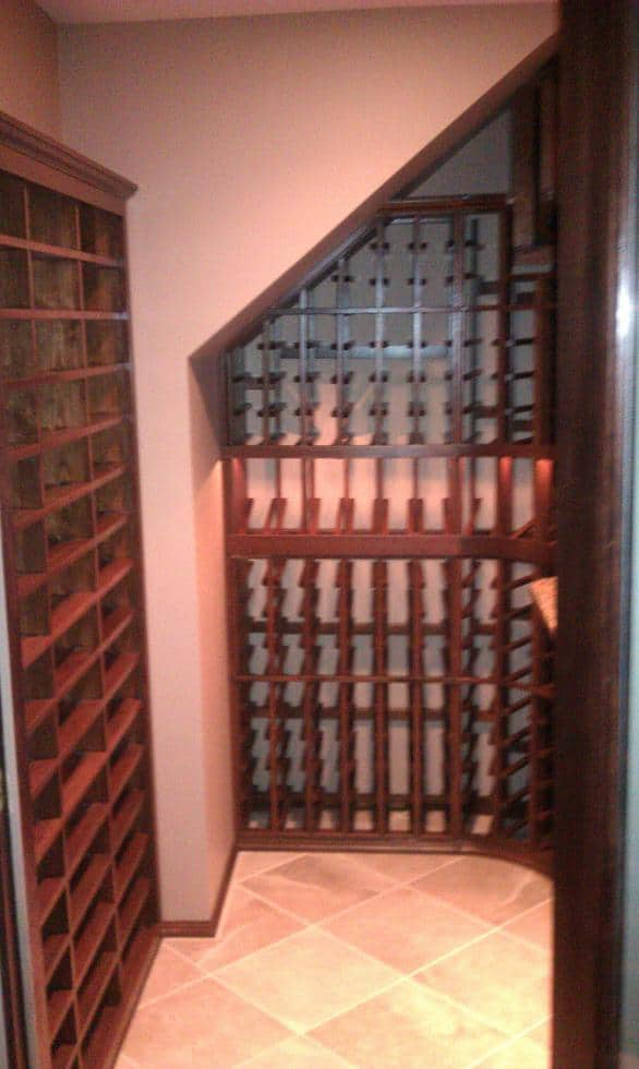 Wine Room Conversion design Rustic Stained Mahogany Maryland