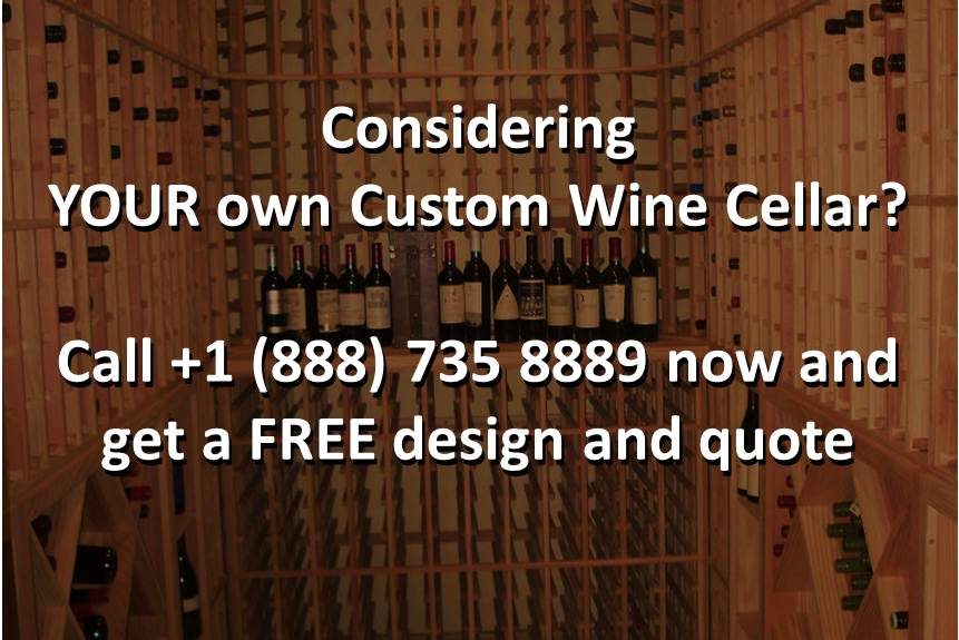 Click here to realize your own California wine cellar design