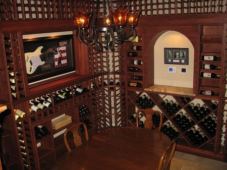 Residential Wine Cellar Pennsylvania Customized for Sculpture