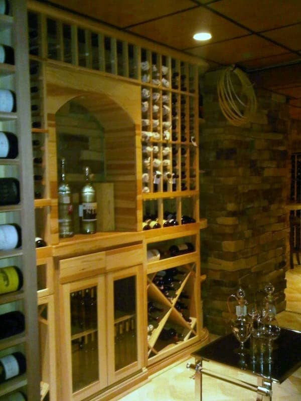 wine cellar new jersey arched display