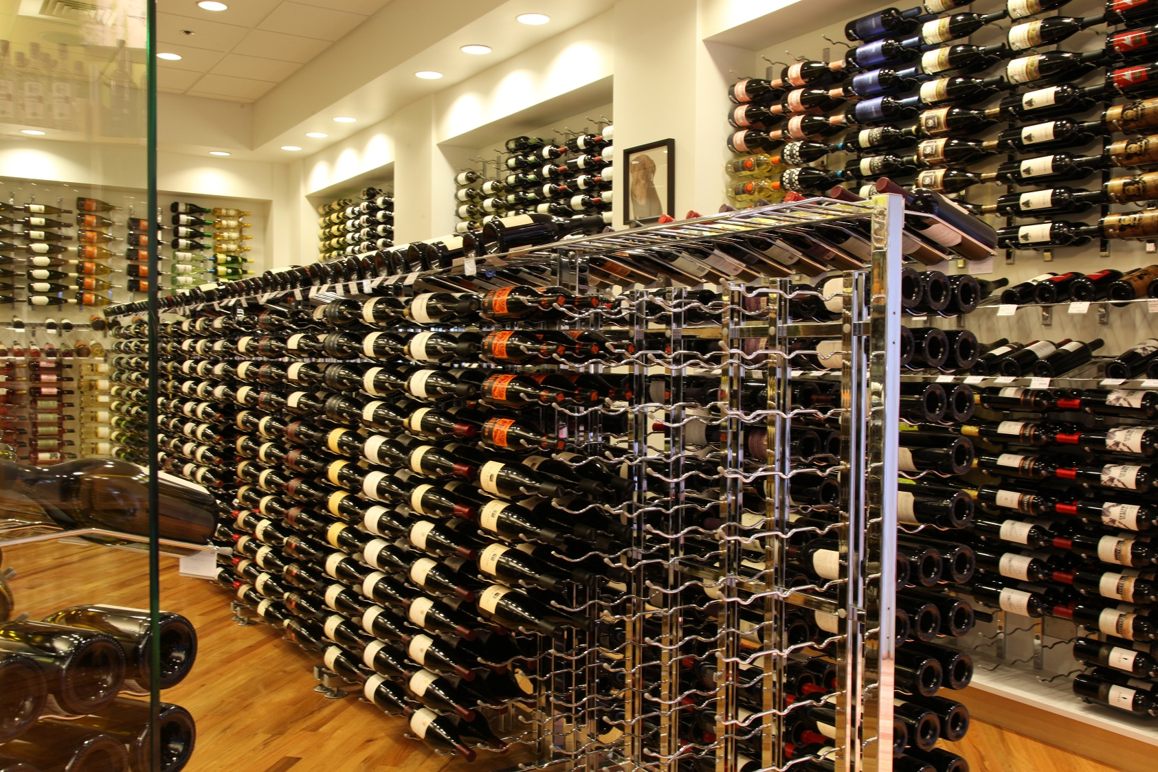 Vintageview Metal Wine Racks Now Available In Black Pearl Chrome Finishes For Contemporary Wine Cellars Coastal Custom Wine Cellars Coastal Custom Wine Cellars