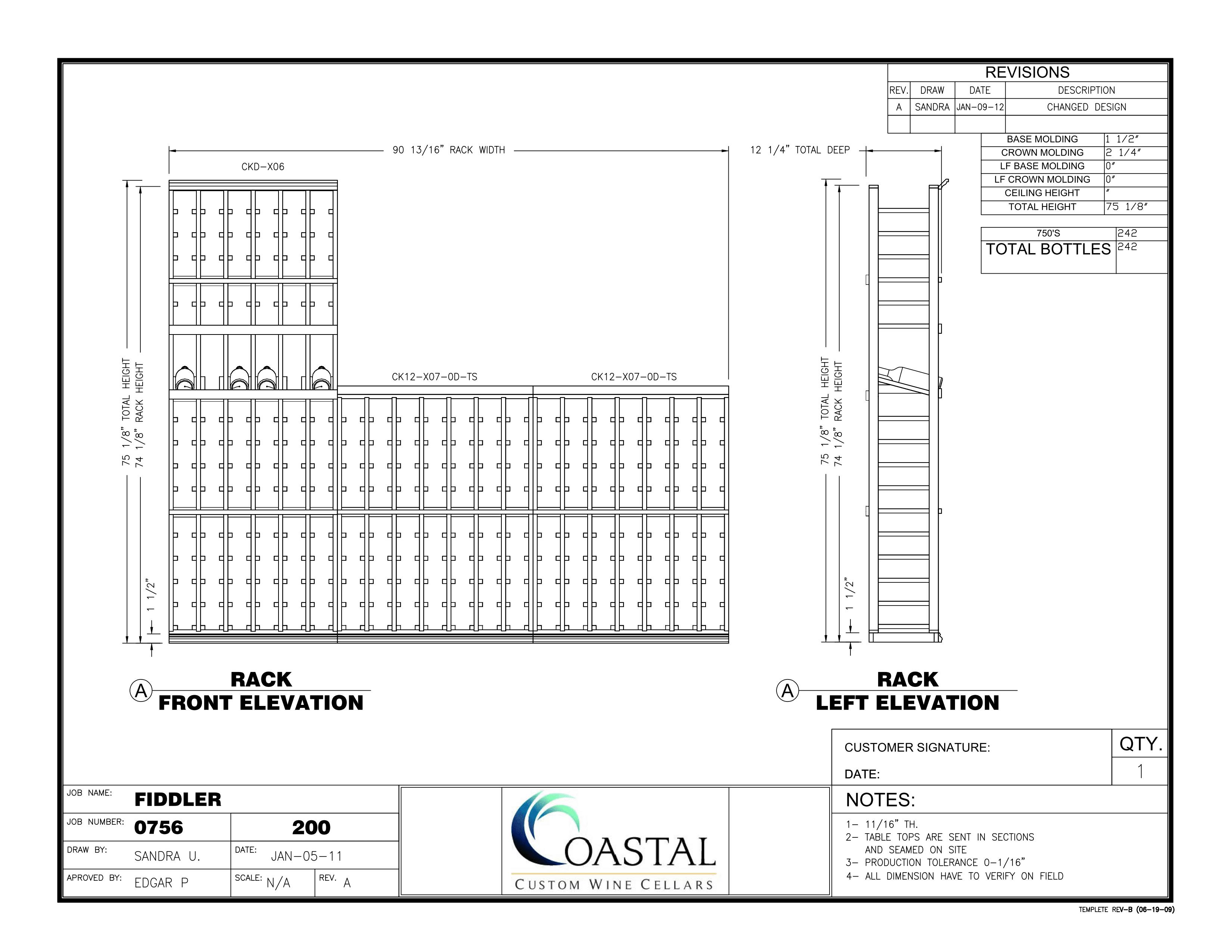 Custom Wine Cellar Designs San