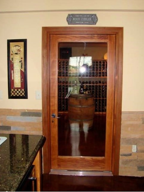 Custom Wine Cellar Doors San Diego California, Renovation Project Glass