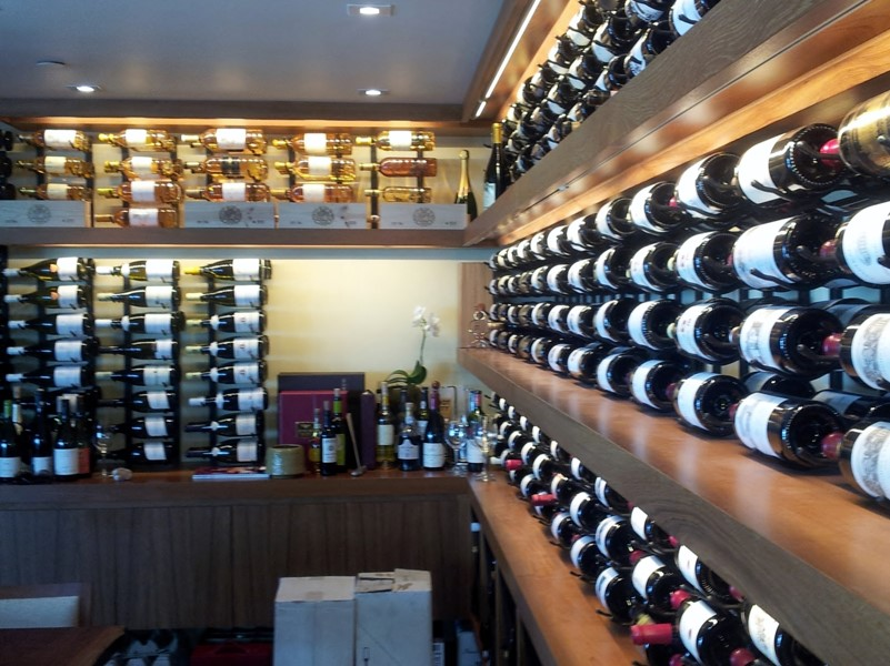 Malibu California Nikita Restaurant Commercial Wine Display