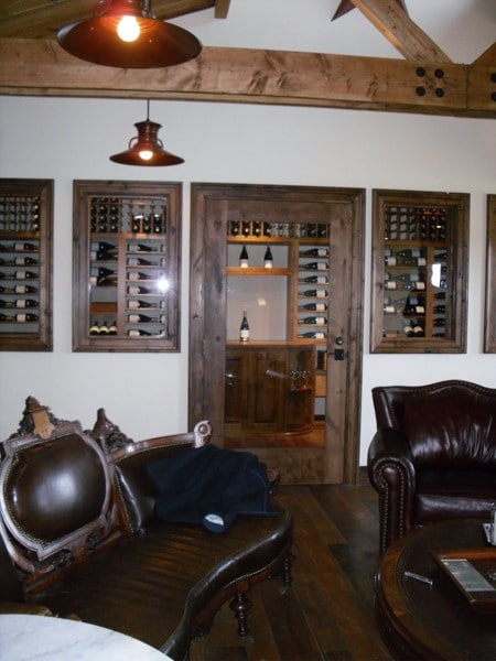 Sea Smoke Vineyard Wine Cellar Display Project in Santa Barbara California
