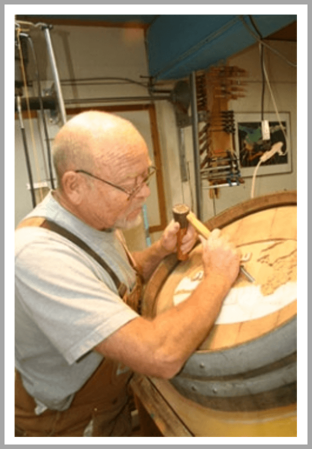 Wine Barrel Carving, Unique Features for Custom Wine Cellars - Peter Forbes