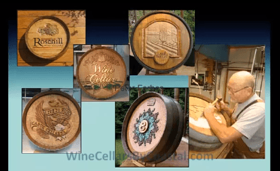 Wine Barrel Carving Designs by Peter Forbes