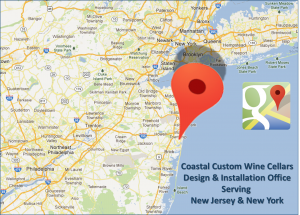 Coastal Custom Wine Cellars New Jersey Design & Installation Office