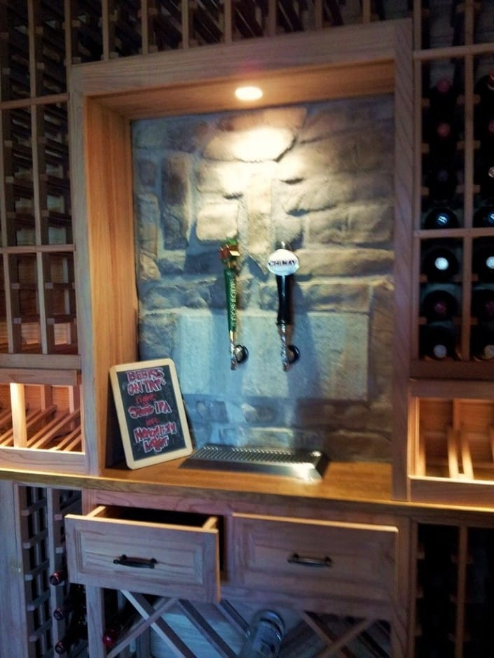 California Wine Cellar Designs Special Features Beer Taps