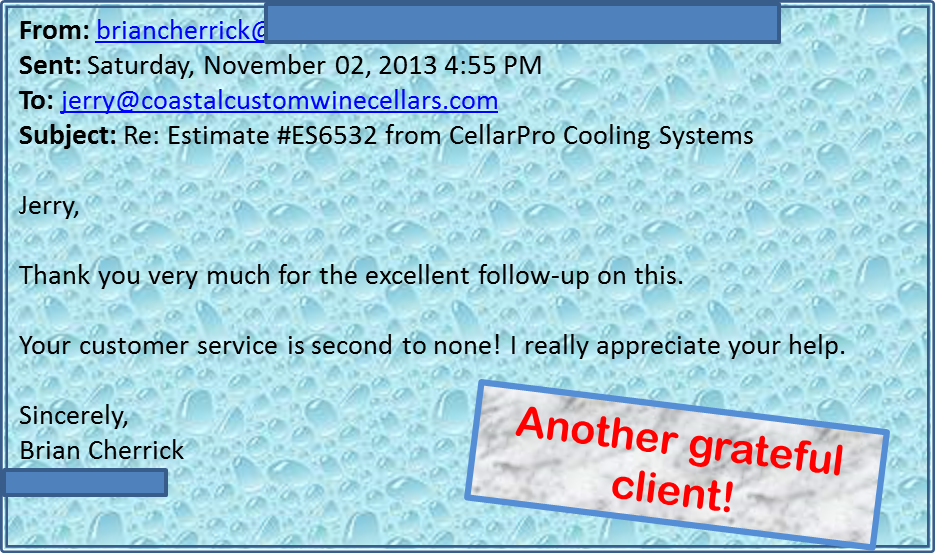 Coastal Custom Wine Cellars Client Review
