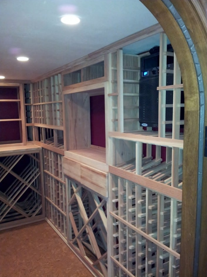 Completed Residential Wine Cellar Orange County California