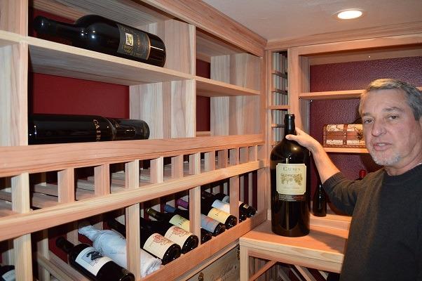 Custom Wine Rack Design for Large Format Bottles