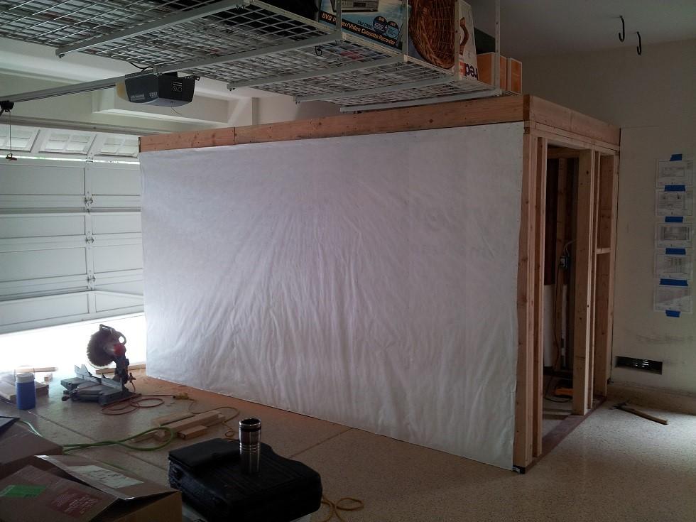 Dana Point Garage Conversion Wine Cellar Under Construction