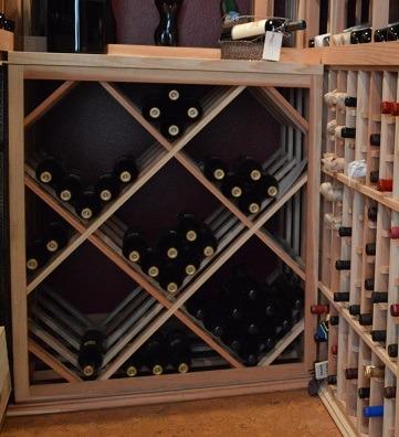 Lattice Diamond Bin Custom Wine Rack
