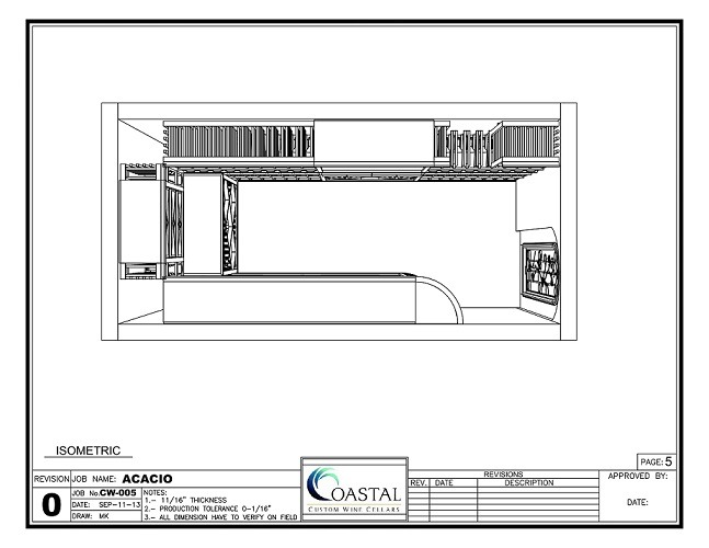 Residential Wine Cellar Design Top View