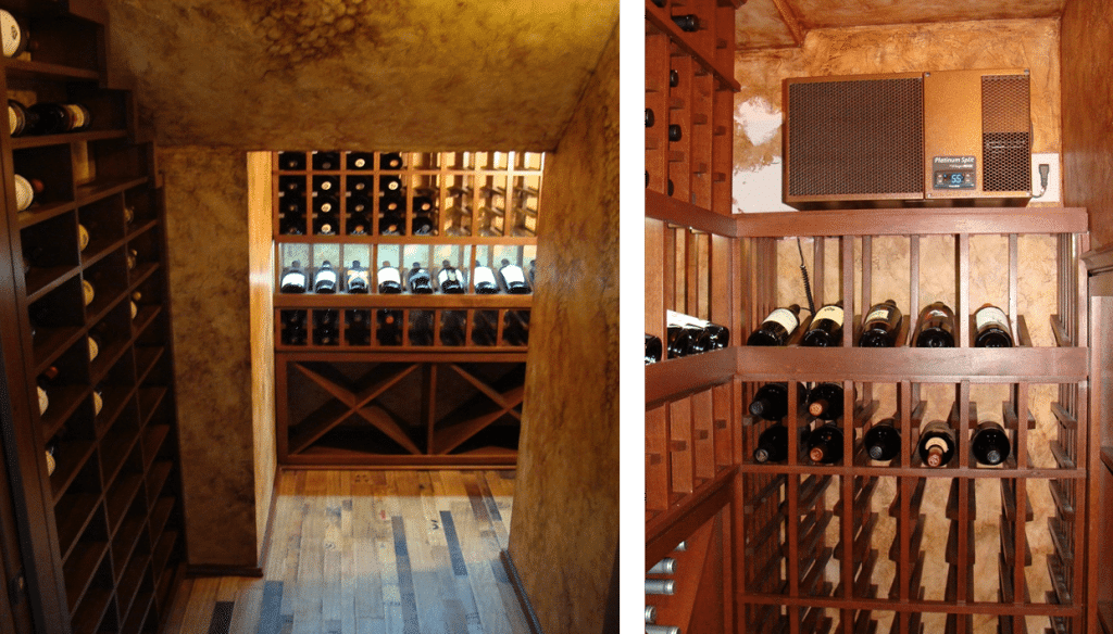 Completed Residential Wine Cellar Orange County, California