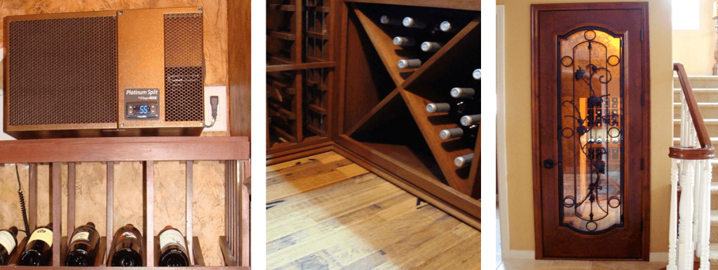 Wine Cellar Cooling System, Flooring and Wine Cellar Door