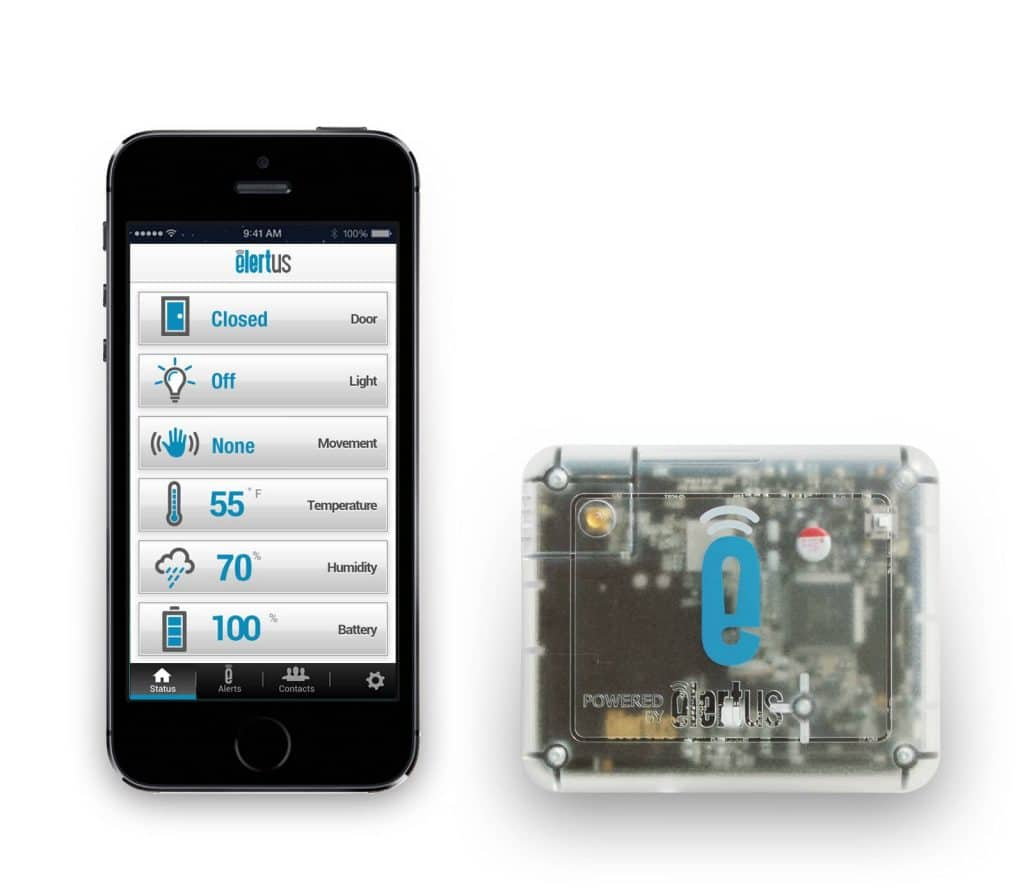 Elertus Temperature and Humidity Monitoring on iPhone