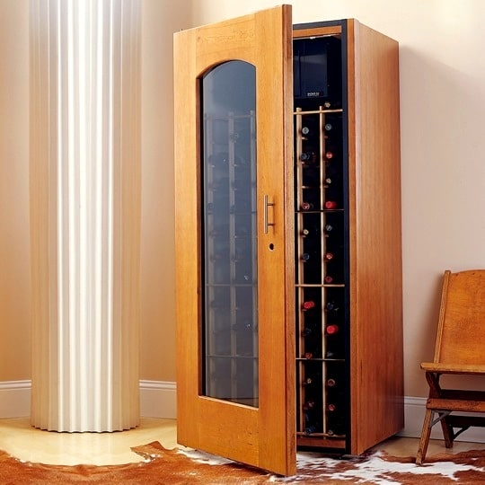 1. Le Cache Model 1400 Wine Cabinet Provincial Cherry, #733