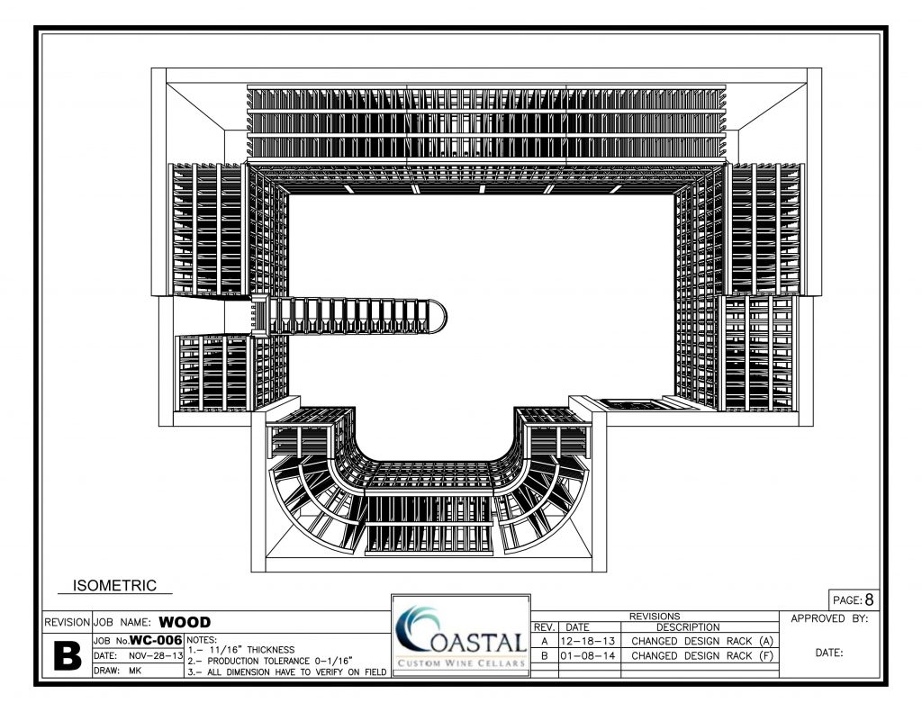 3D Wine Cellar Design by Coastal