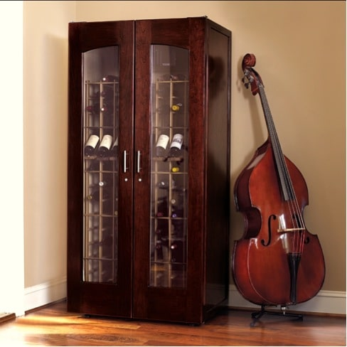 6. Le Cache Model 2400 Wine Cabinet Chocolate Cherry, #735