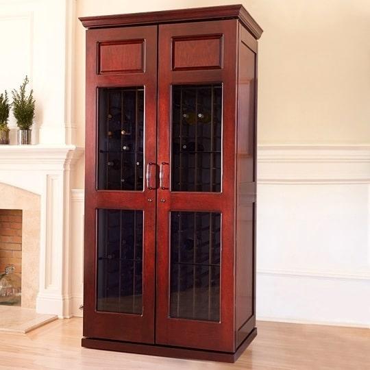 8. Le Cache Carolina 2400 Wine Cabinet Classic Cherry, #15169