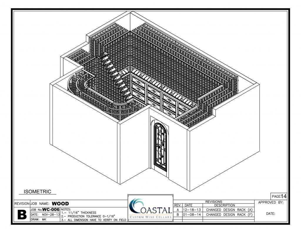 Free 3D Wine Cellar Design from Coastal