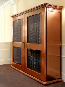 European Country Wine Cabinet by Le Cache in Provincial Cherry