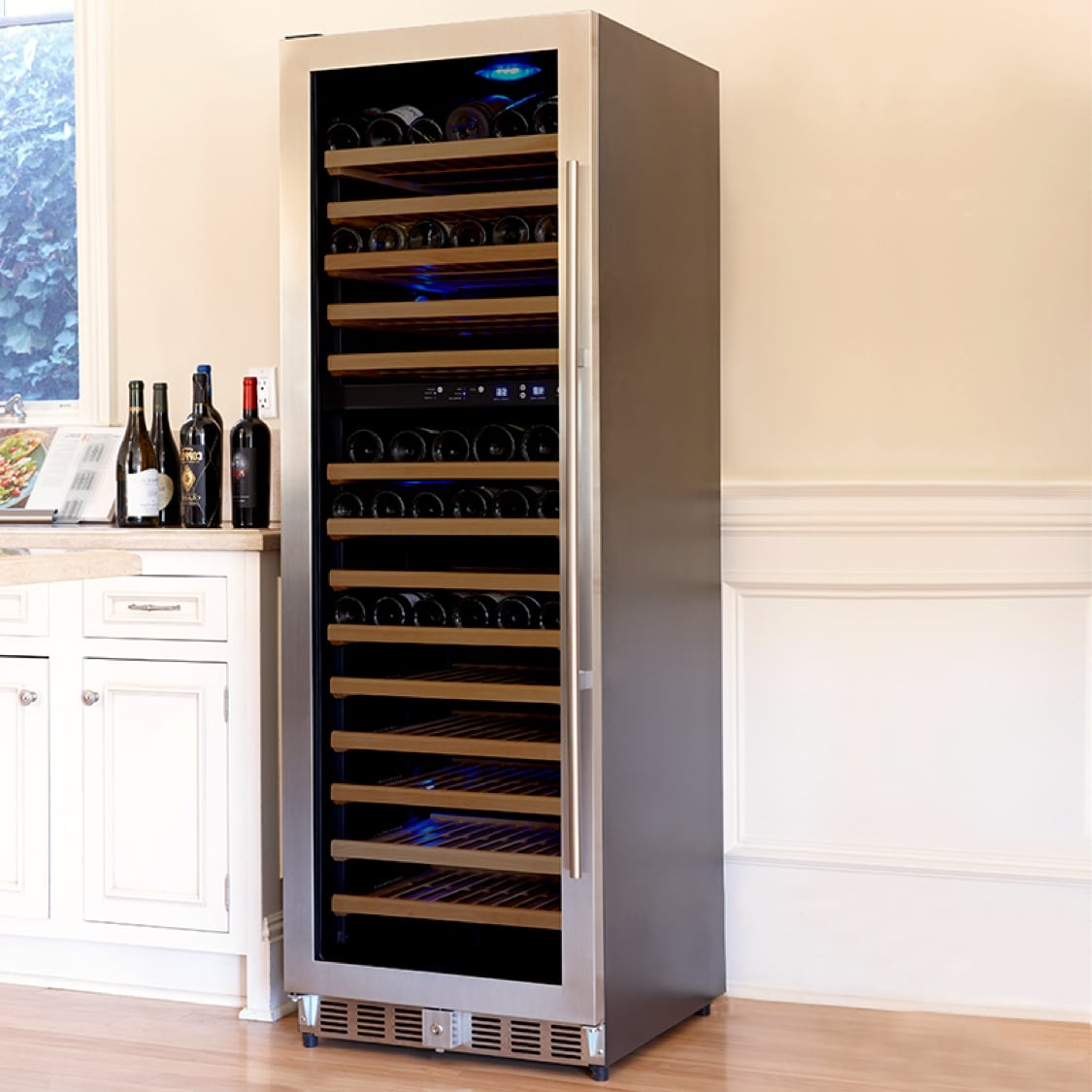 Click here to see more loft/vault styled styled wine cabinets