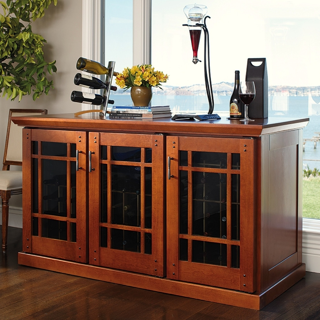 Click here to see more mission/Carolina styled styled wine cabinets