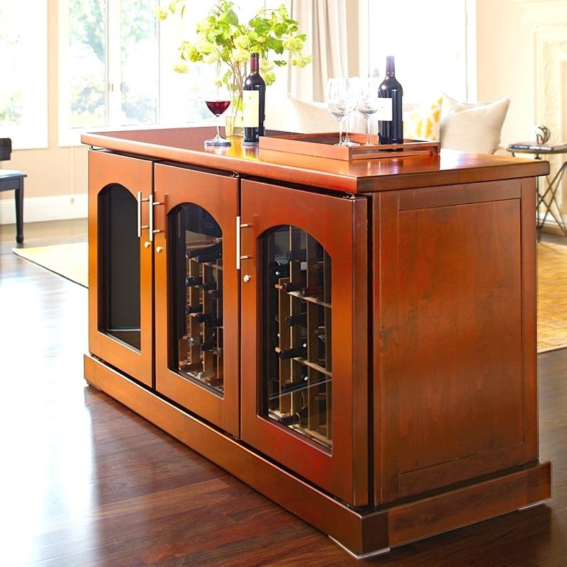 Le Cache Contemporary Wine Storage Cabinets Credenza Provincial Island 01