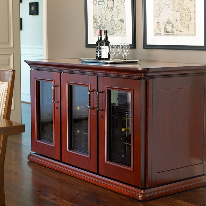 Contact us to get your own Le Cache Credenza wine cabinet today!
