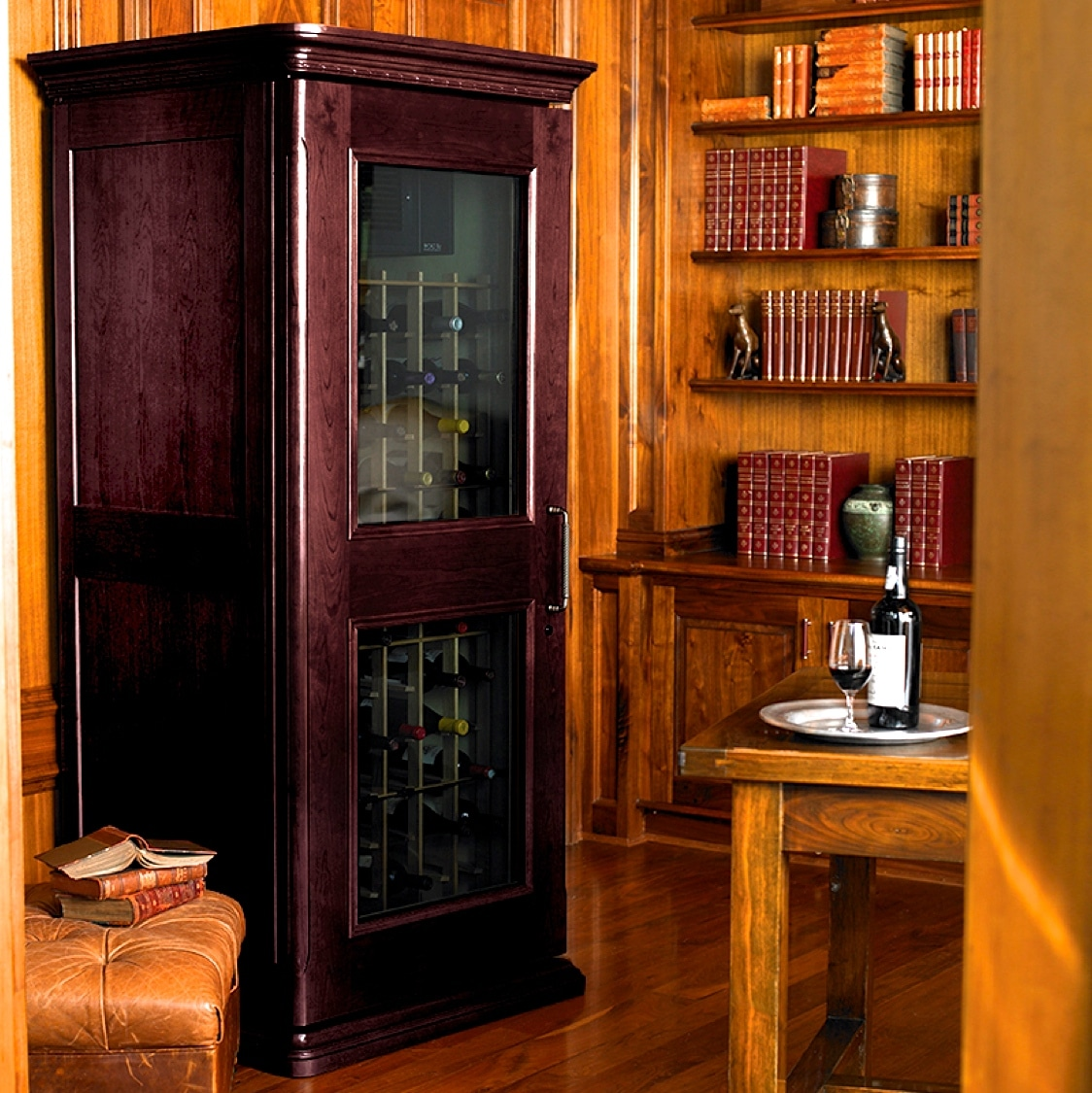 3. Le Cache Euro 1400 Wine Cabinet Chocolate Cherry, #758