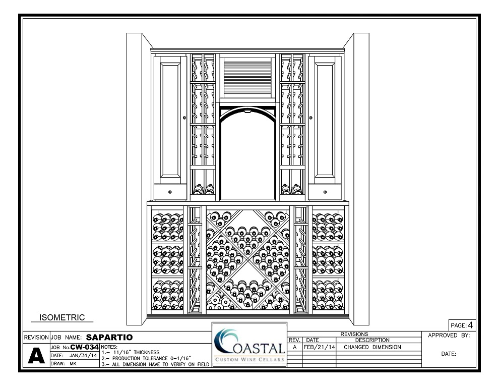 Custom Wine Cellar Design in 3D by Coastal