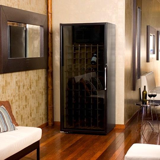 1. Le Cache Loft 1400 Wine Cabinet Black Matte, #877