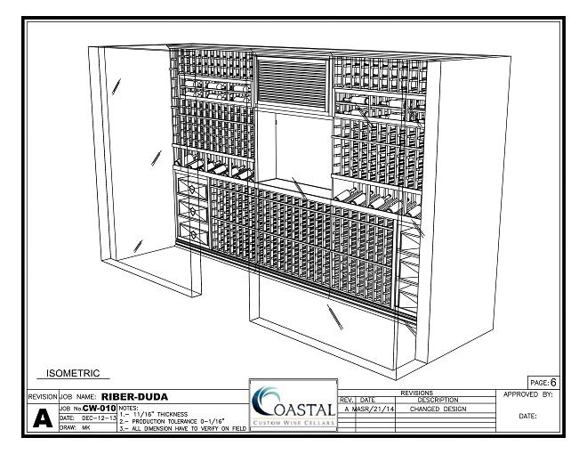 3D Wine Cellar Design Los Angeles