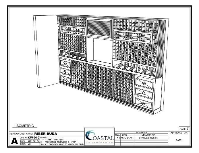 3D Wine Cellar Design by Coastal