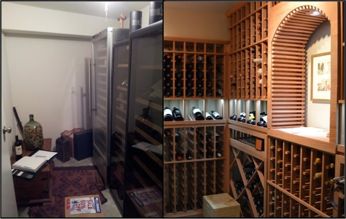 Learn more about this wine room conversion at a Laguna Beach residence
