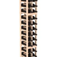 36-bottled standalone 6 Ft Wine Rack Kit in natural pine stain