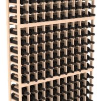 180-bottled standalone Pine 10 Column 6 Ft Wine Rack Kit in Natural Stain
